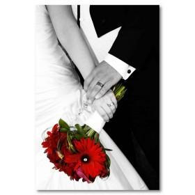 Αφίσα (γάμος, γάμος, ζευγάρι, λουλούδια, dasies)